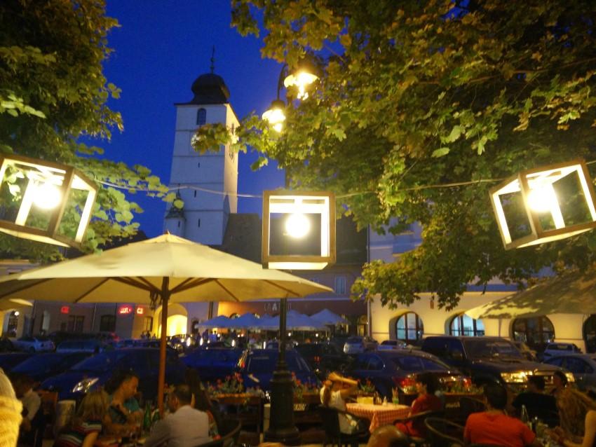 Piata Mica din Sibiu, seara